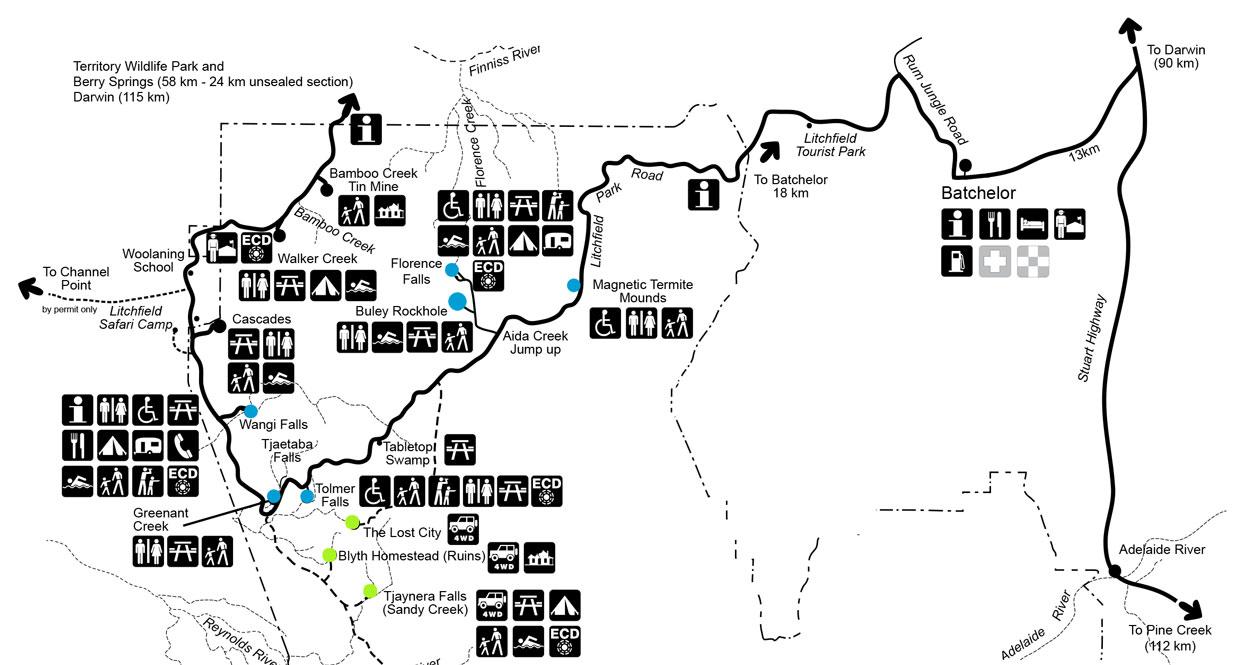 Karte Litchfield Nationalpark sehenswertes