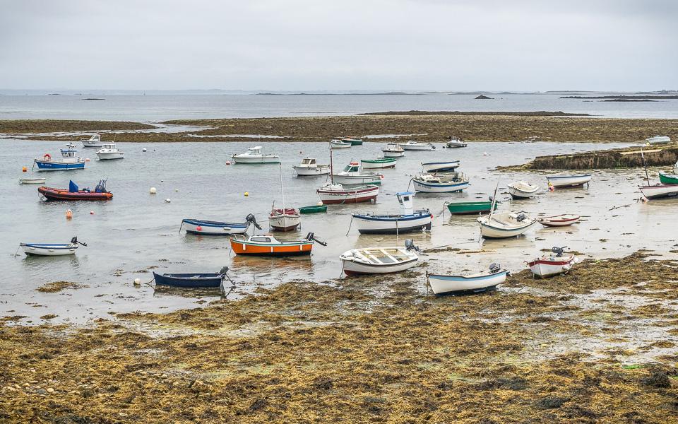 Île de Molene Ebbe Fischerboote