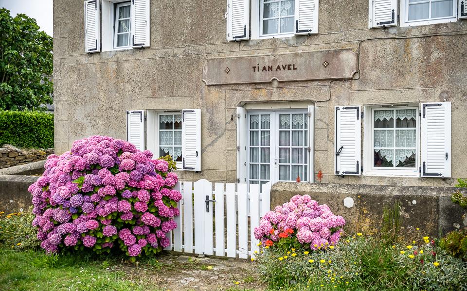 Häuser Île de Molene Bretange