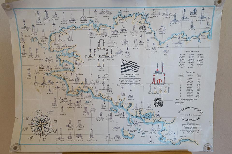 Leuchttürme Bretagne Karte