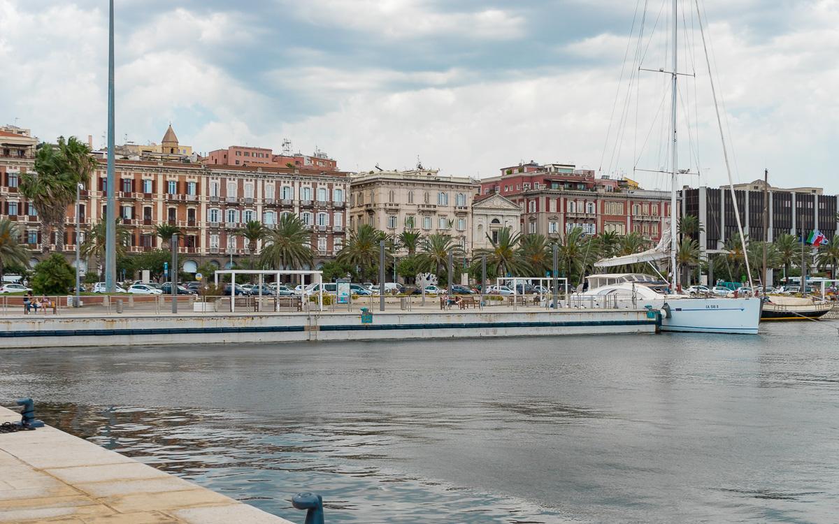 Via Roma und Hafen, Cagliari