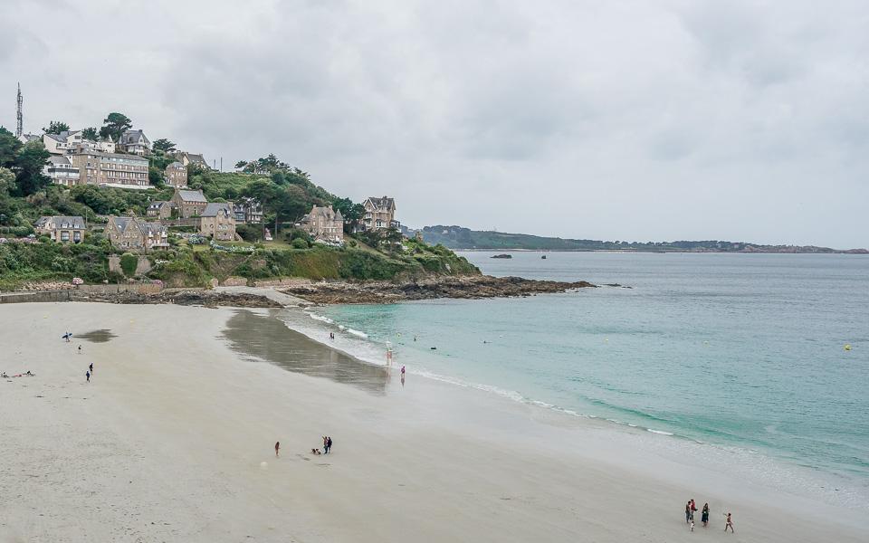 Plage de Trestrignel, Rosa Granitküste Bretagne