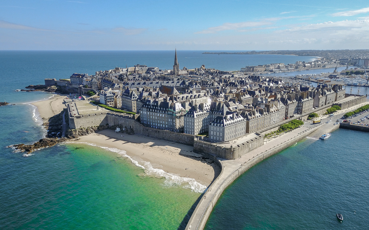 Saint Malo Ville Close Luftaufnahme