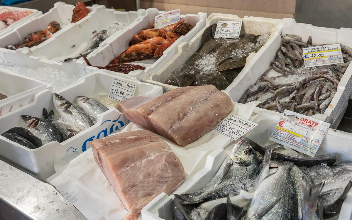 Villasimius frischen Fisch kaufen