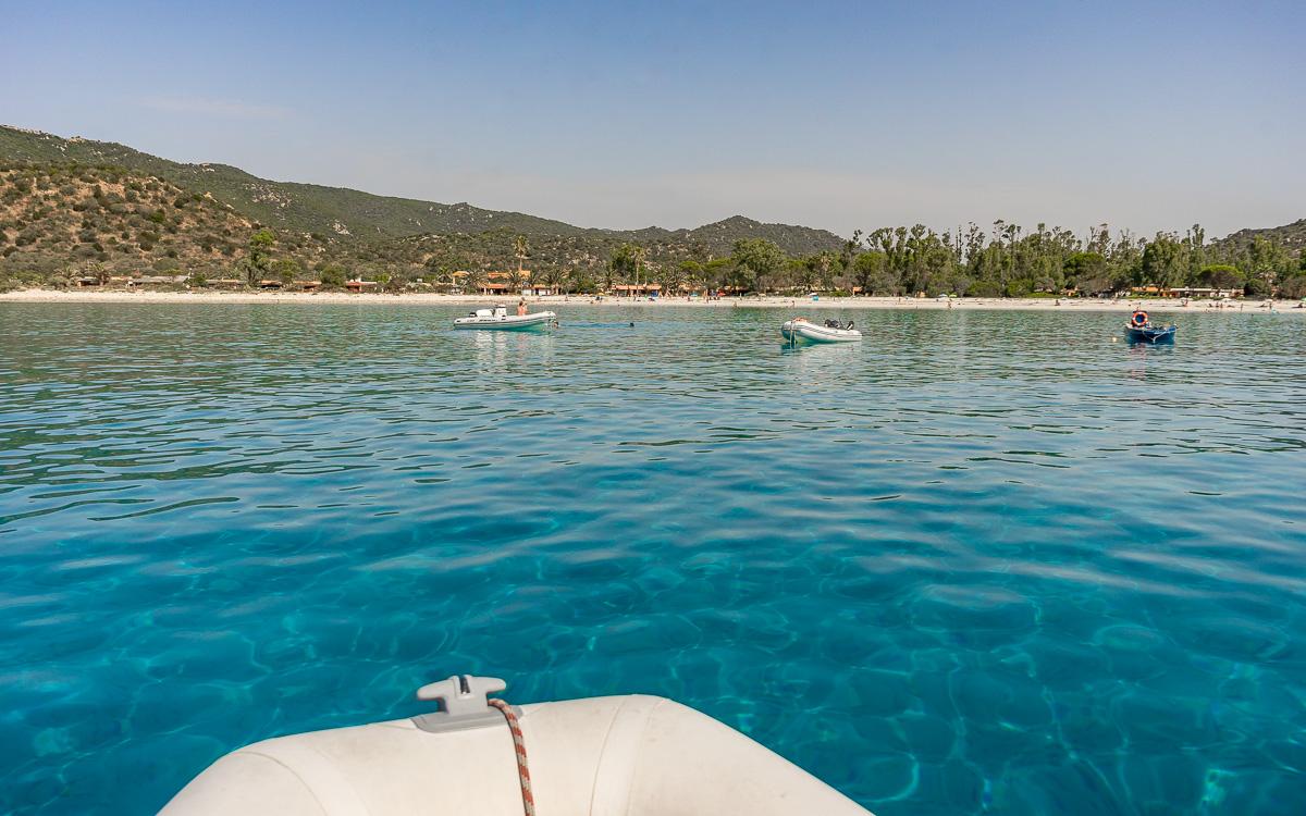 Punta Molentis Motorboot