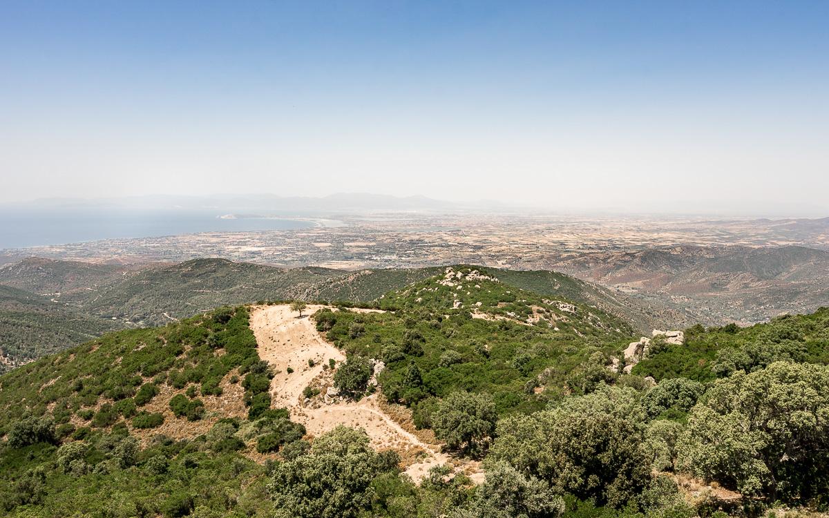 Ausblick Sette Fratelli nach Cagliari
