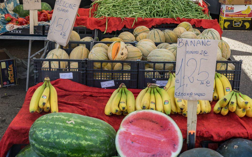 Wochenmarkt Villasimius Sardinien