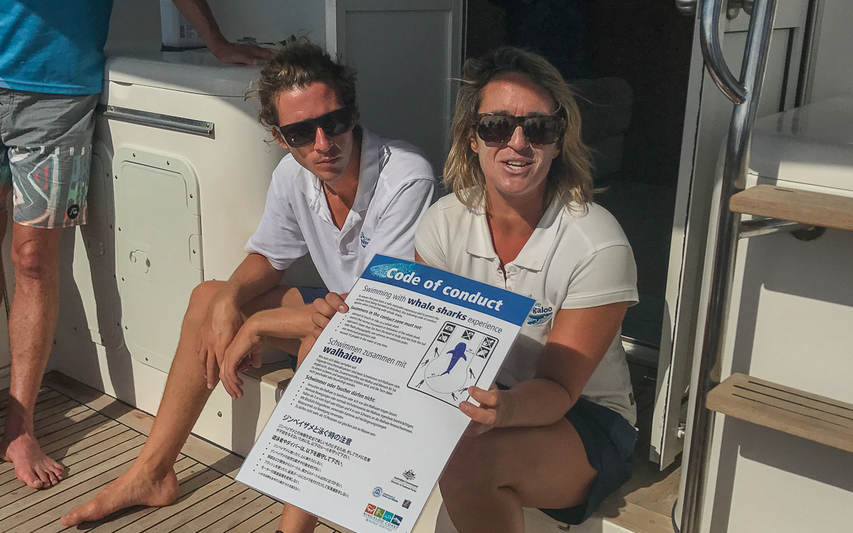 Briefing Walhai schwimmen Live Ningaloo