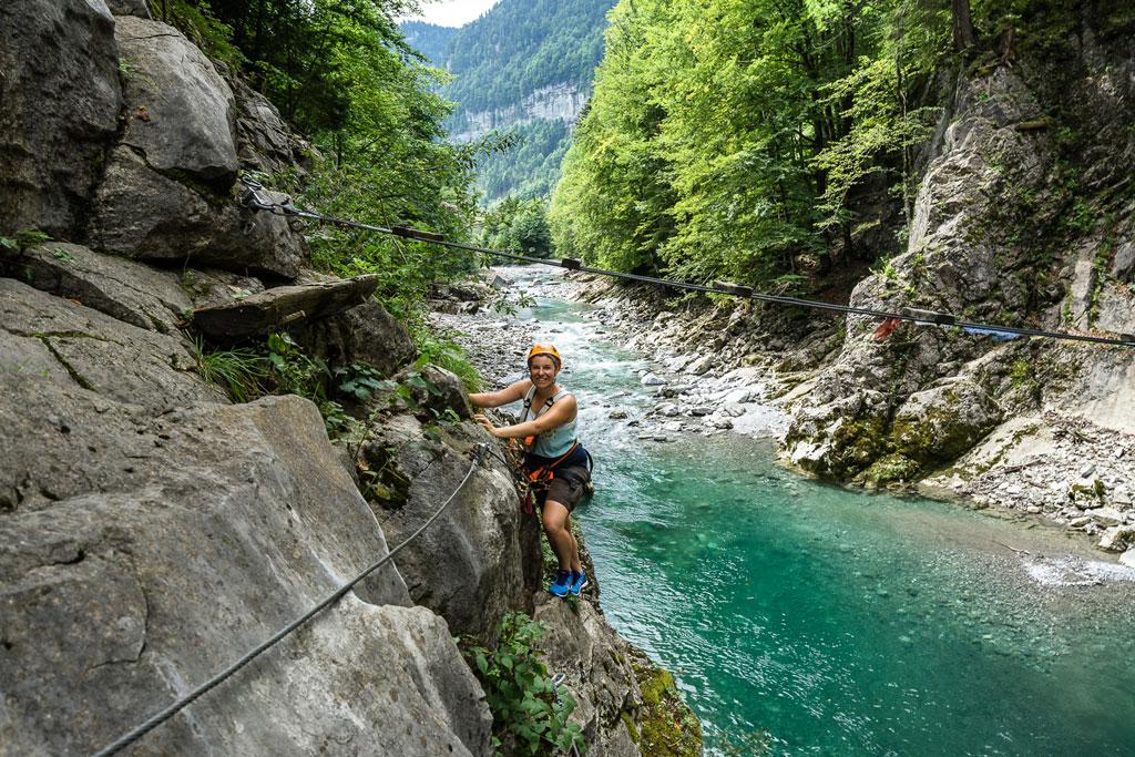 Bregenzerwald Klettersteig im Sommer