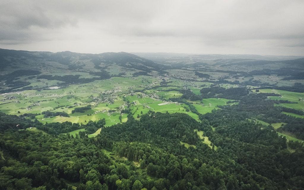 Bregenzerwald Andelsbuch Gleitschirm fliegen