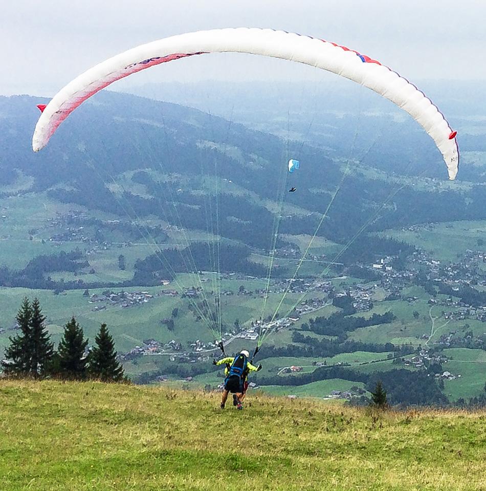 Bregenzerwald Paragliden Andelsbuch Tandemflug