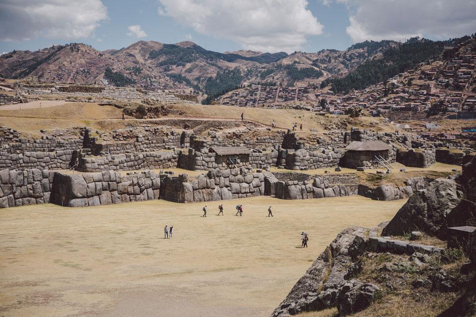 Sacsayhuama Inka Ausgrabungsstätte in Cusco