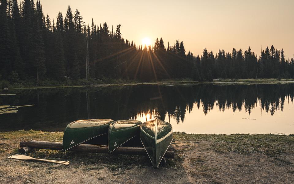 island-lake-fernie-kanus