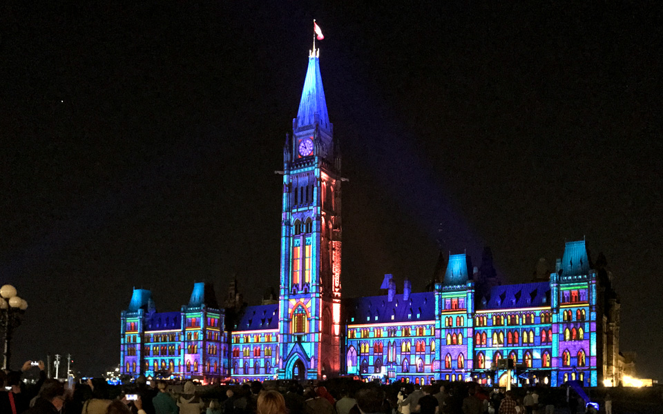 Nordic Light Parliament Hill Ottawa