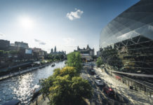 Ottawa Rideau Canal Blick auf Parlament