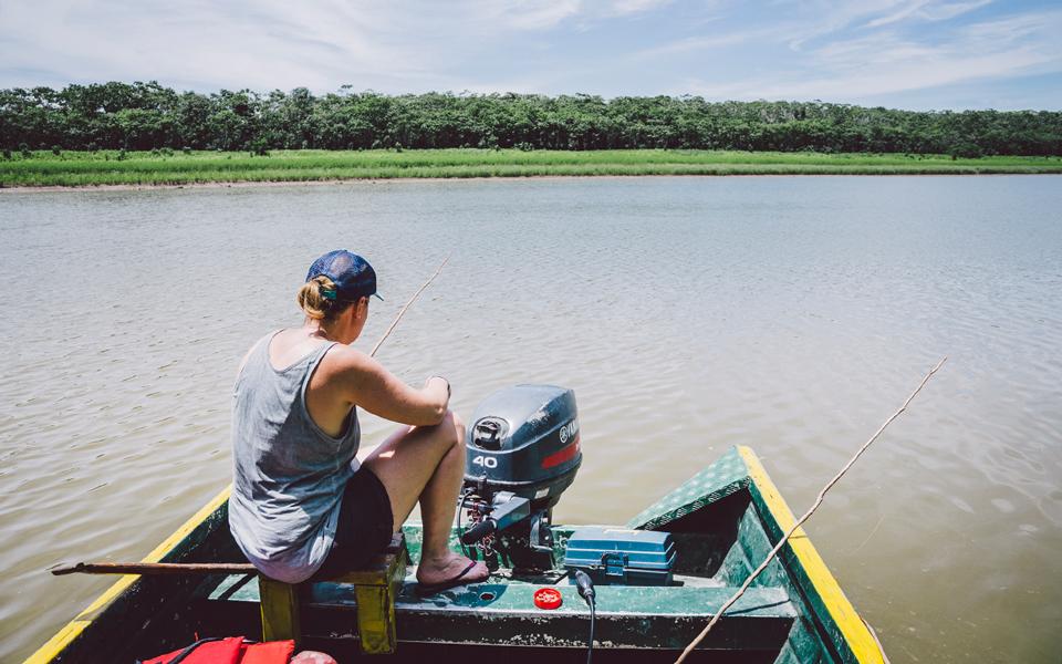 Piranha angeln am Amazonas Peru