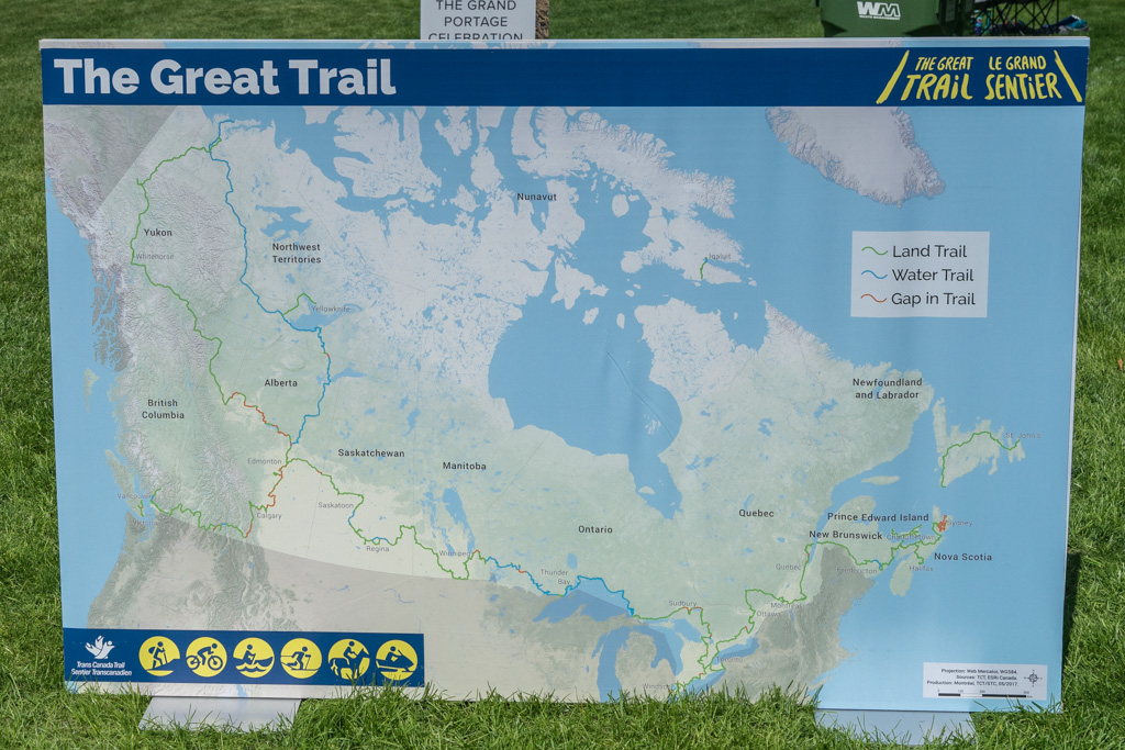 Karte The Great Trail Kanada