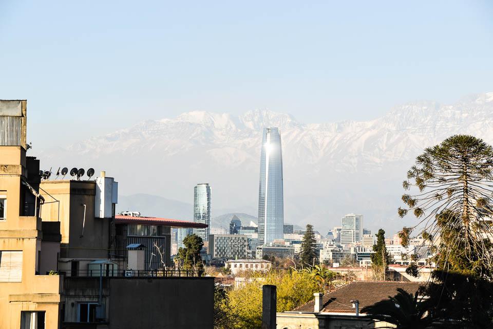 Skyline Santiago der Chile, Hauptstadt in Chile