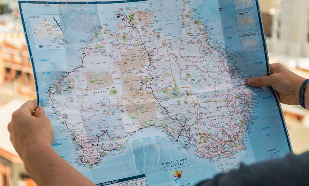 Australien Route 3 Monate Karte