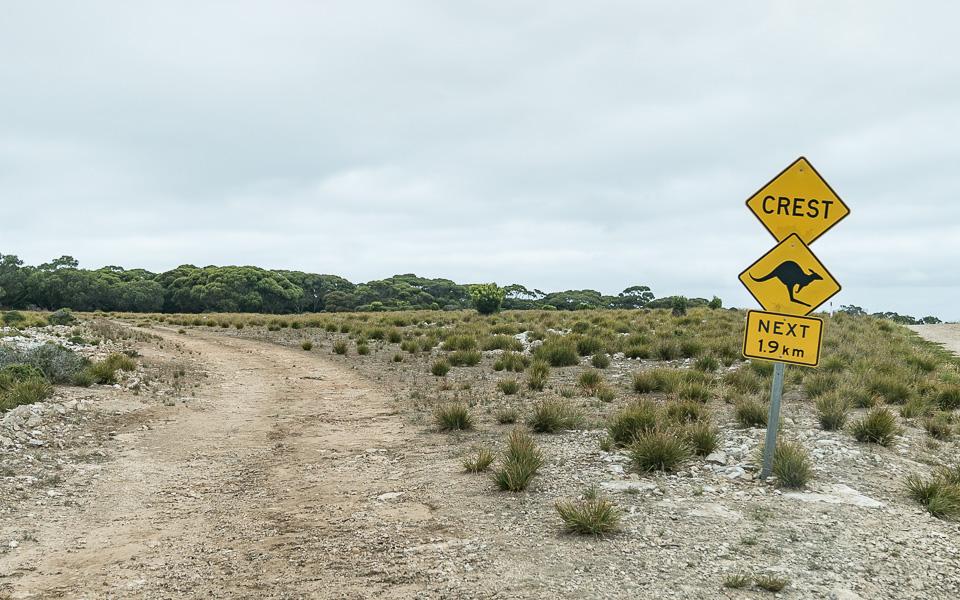 Autofahren Kangaroo Island Australien unbefestige Pisten