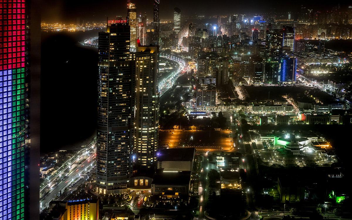 Ausblick Observation Deck at 300 auf Abu Dhabi