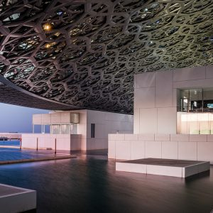 Abu Dhabi Louvre auf Wasser gebaut