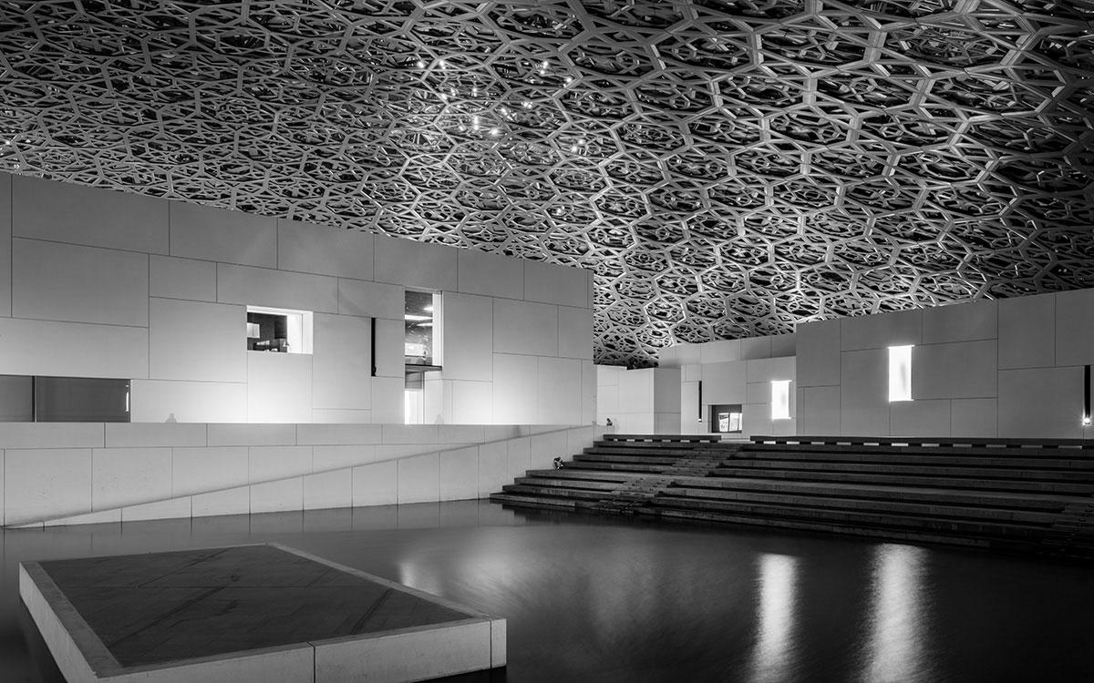 Abu Dhabi Louvre Architektur im Inneren