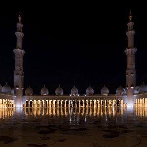 Innenhof Sheikh Zayed Moschee Abu Dhabi