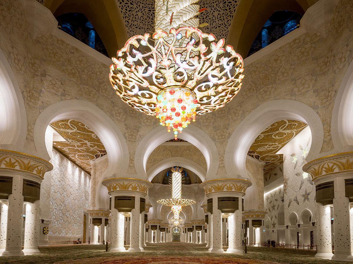 Kronleuchter Sheikh Zayed Moschee Abu Dhabi