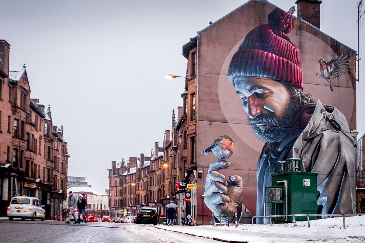 Glasgow Street Art Mural by Smug