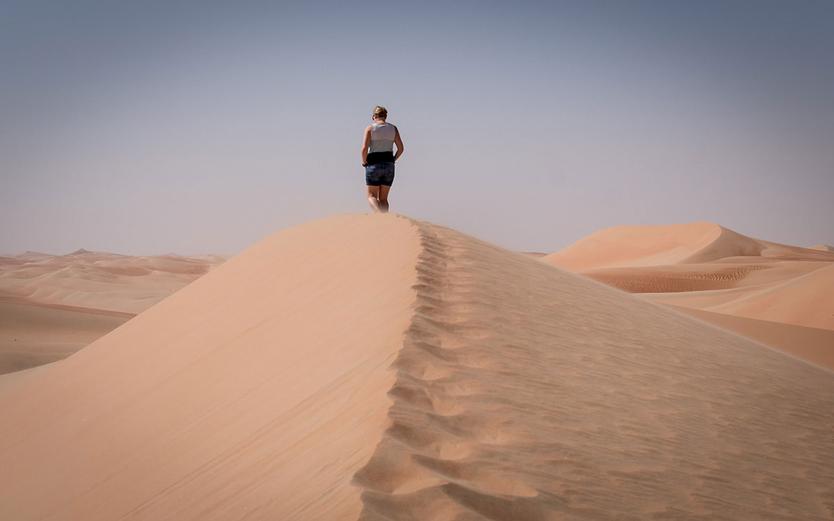 Sanddünen ohne Ende in der Rub al-Khali