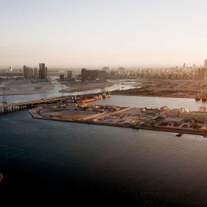 Skyline Abu Dhabi von Saadiyat Island