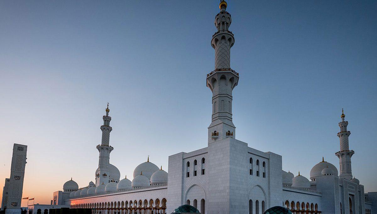 Sheikh Zayed Moschee Abu Dhabi Parkplatz