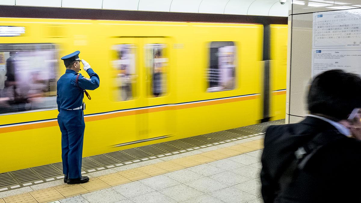 Metro fahren in Tokio