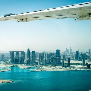 Rundflug Wasserflugzeug Abu Dhabi Skyline
