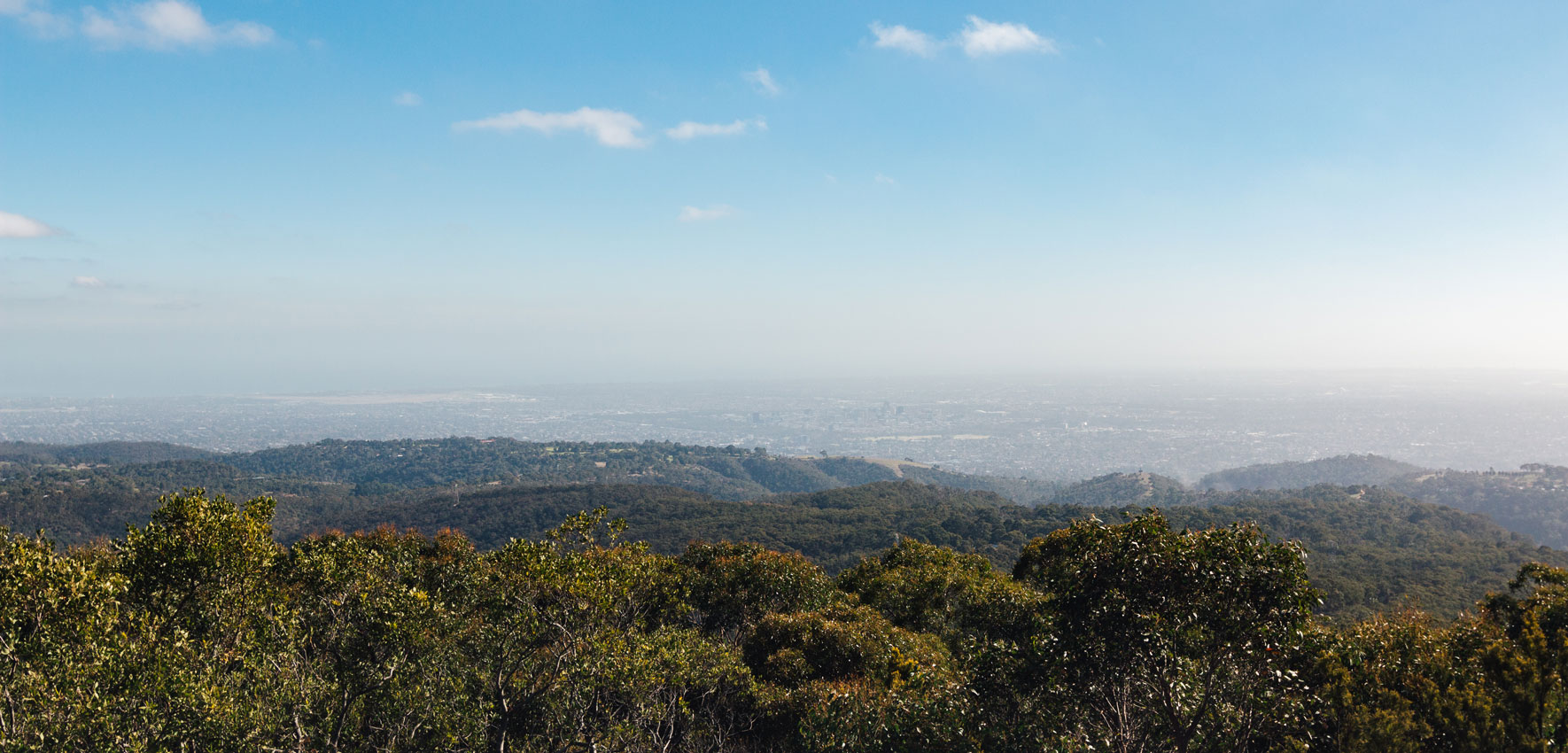 Mount Lofty Blick auf Adelaide