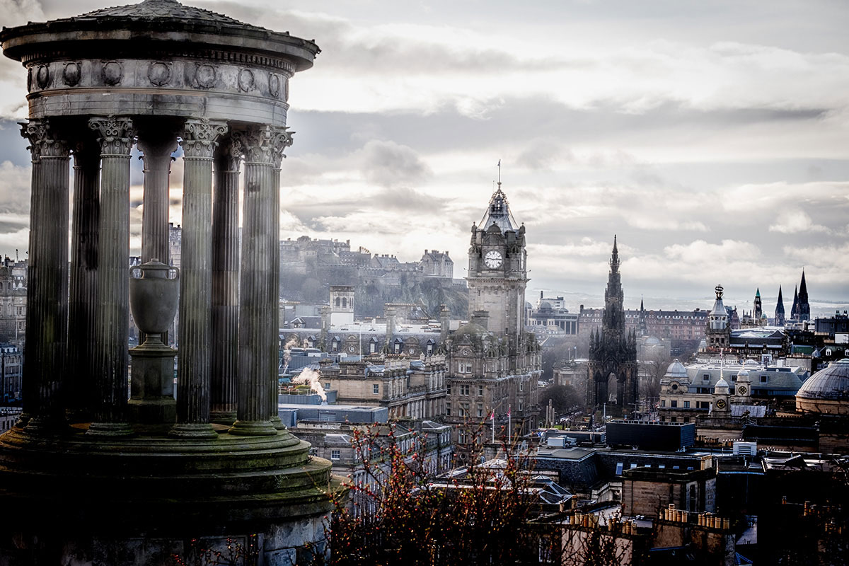 Edinburgh Calton Hill Aussicht