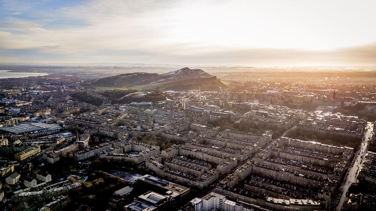 Luftaufnahme Edinburgh