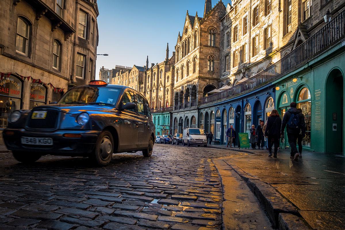 Edinburgh Tipp Taxi fahren