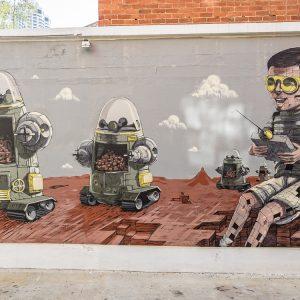 Street Art Pixel Pancho Perth