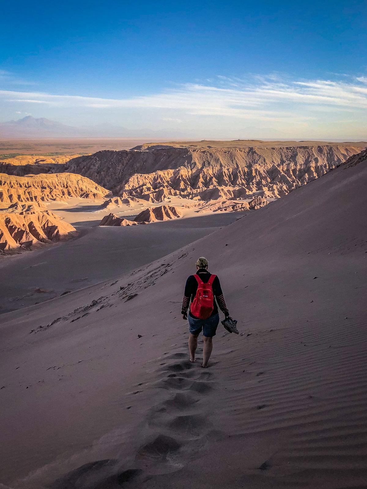 Sanddüne Barfuß Atacama