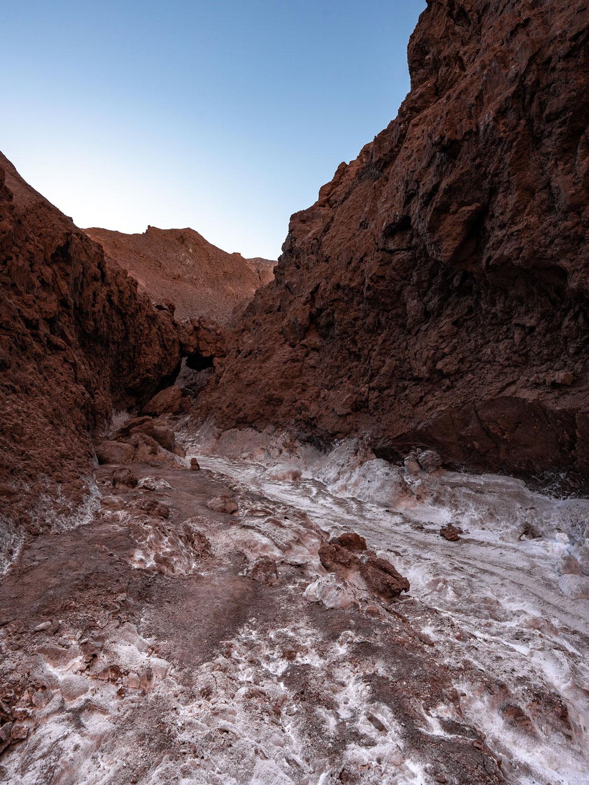 Salzsee Atacama-Wüste Valle de la Luna