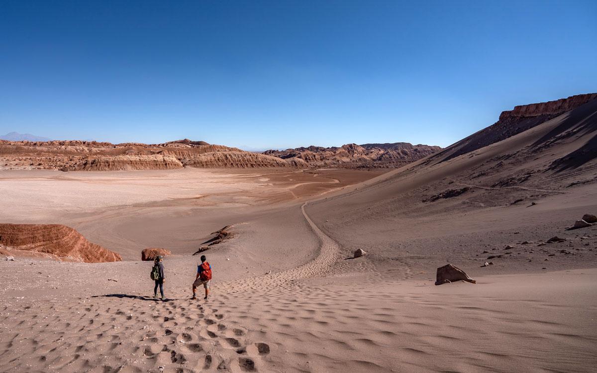 Sanddüne Valle de la Luna Atacamawüste