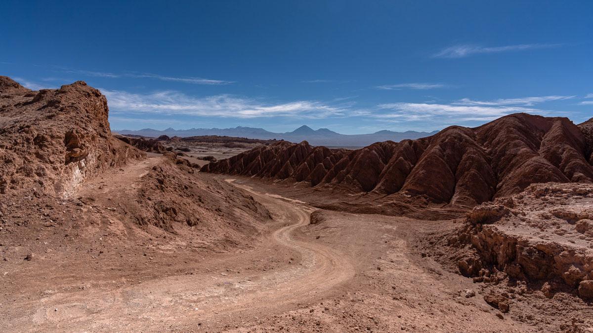 Ausblicke Valle de la Luna Atacama-Wüste