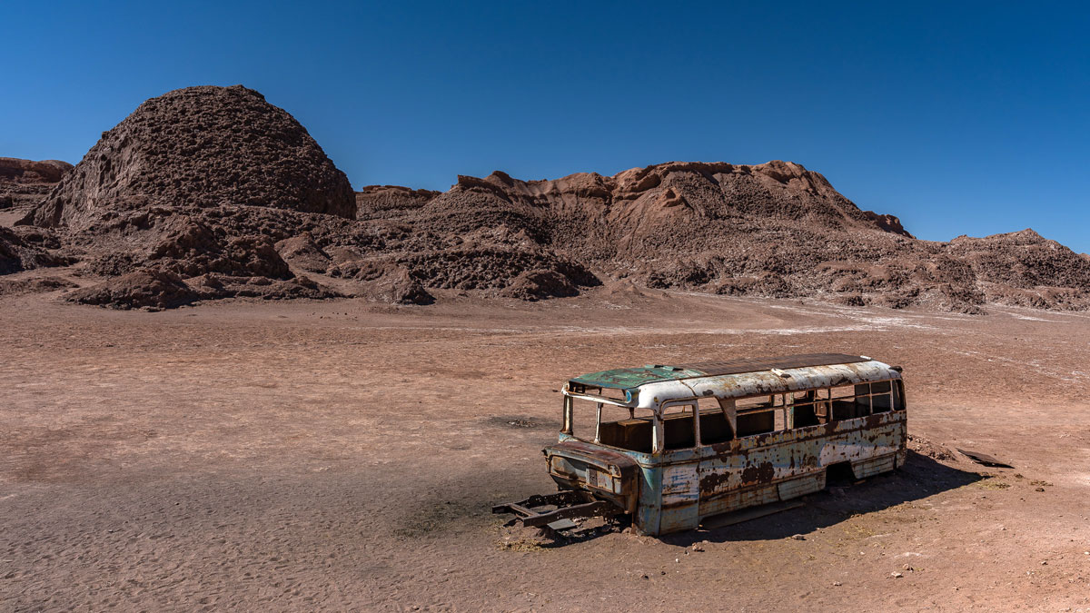 Bus Wrack Atacame Wüste