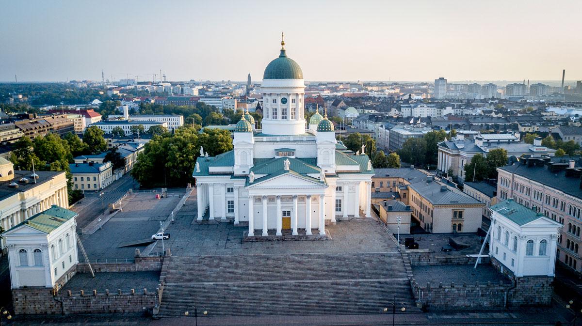 Domkirche am Senatsplatz Helsinki