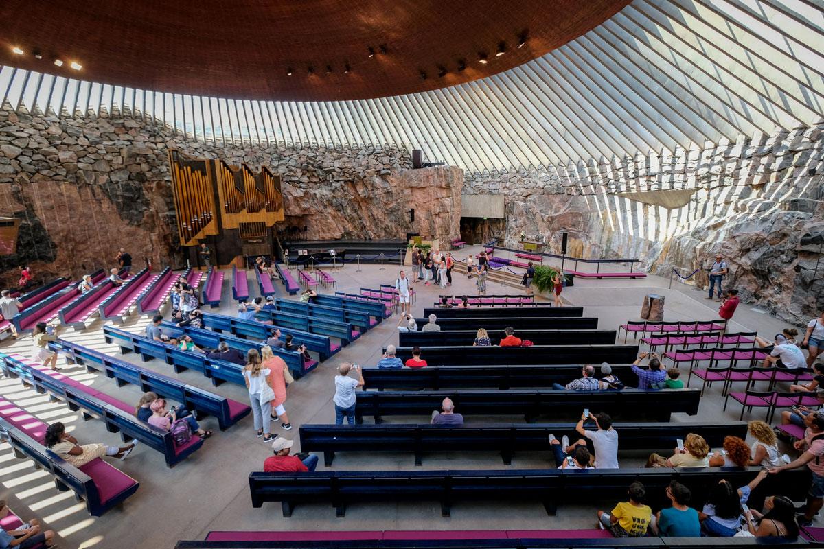 Felsenkirche Sehenswürdigkeiten Helsinki
