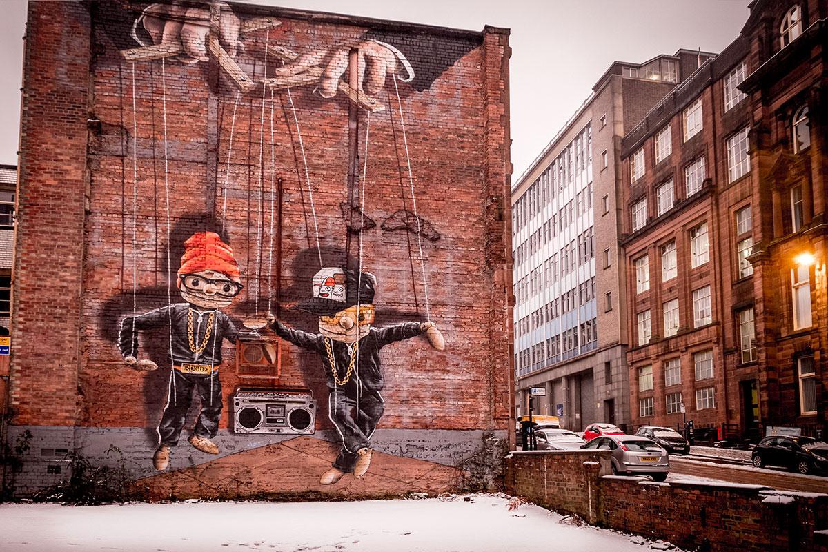 glasgow-hip-hop-marionettes-street-art