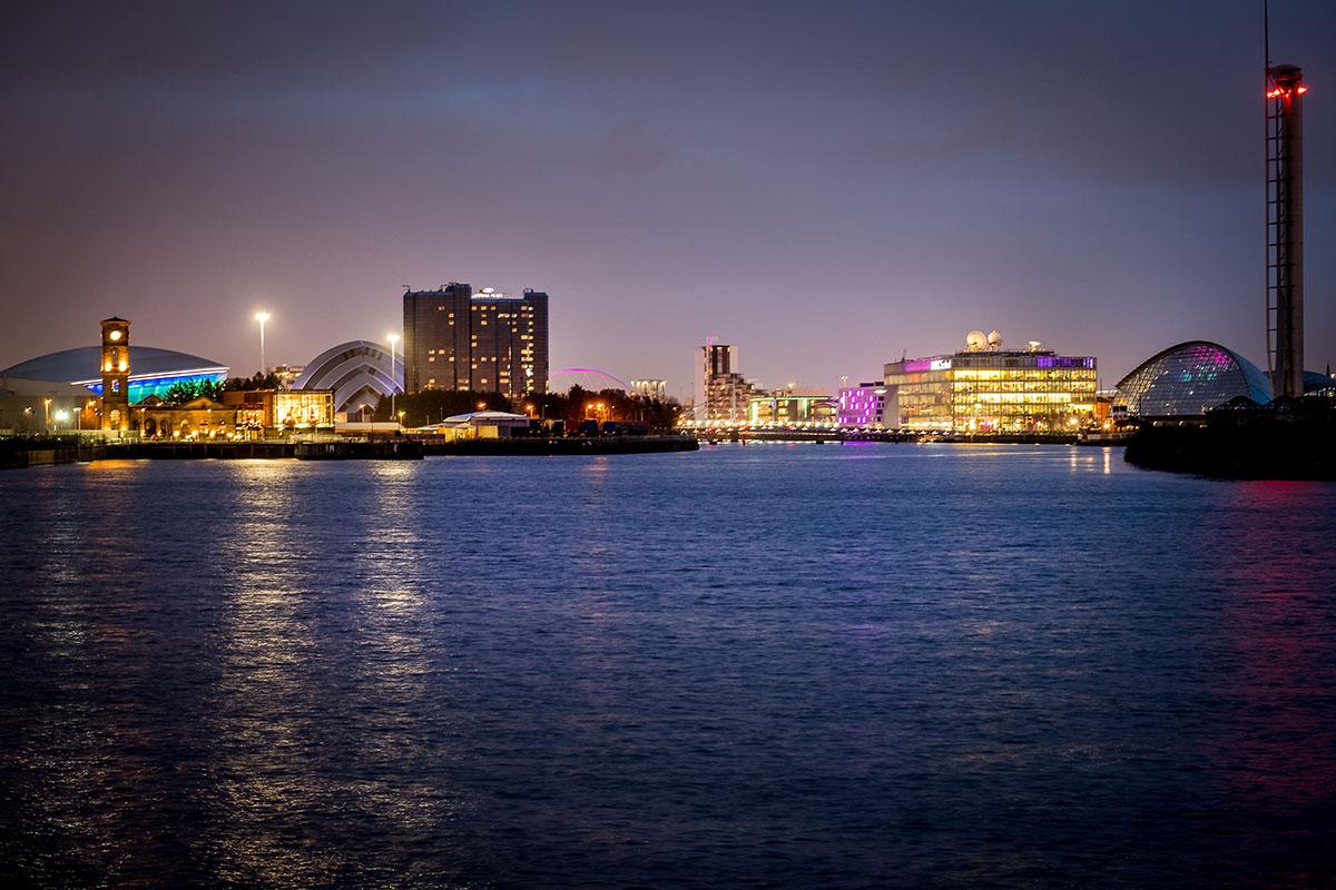 glasgow-skyline-nachts
