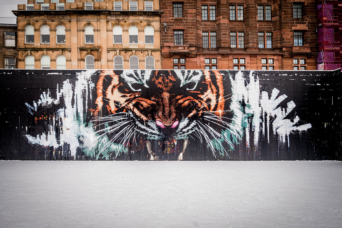 Glasgow Tiger Street Art